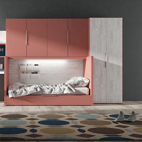 cama rubbik con armarios y zona estudio portada