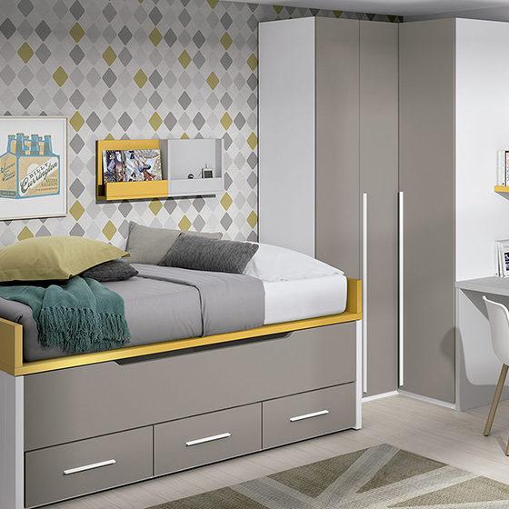 dormitorio juvenil con armario cama nido y escritorio detalle portada1