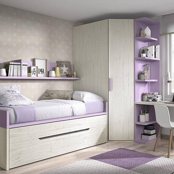 habitacion bicama con armario vestidor portada