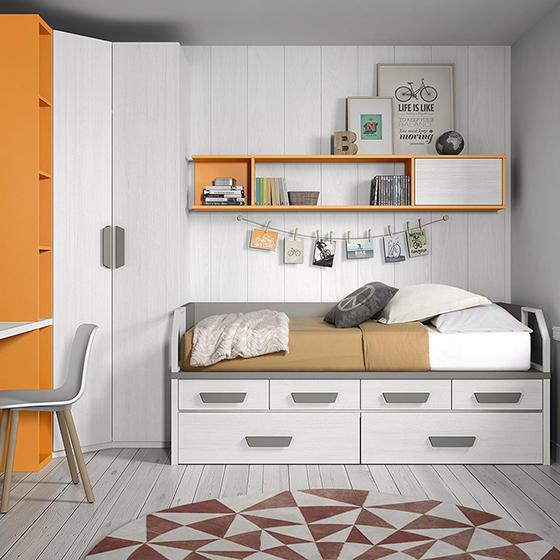 habitacion cama armario libreriay mesadeestudio portada