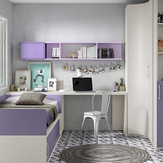 habitacion cama zona estudio armario esquinero portada