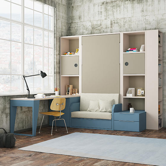 habitacion juvenil abatible espacio reducido portada