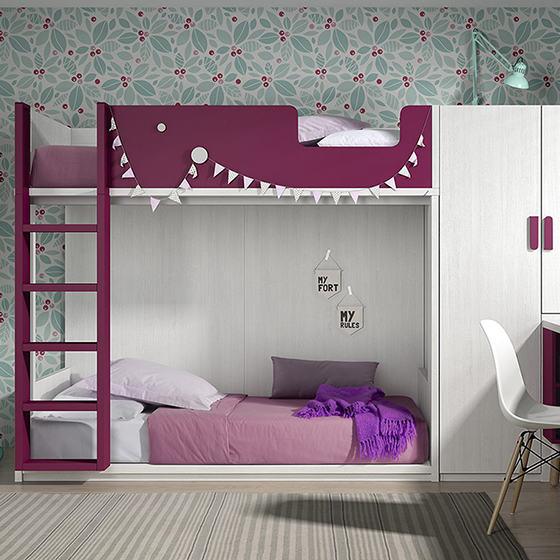 habitacion litera doble con armario y escritorio portada