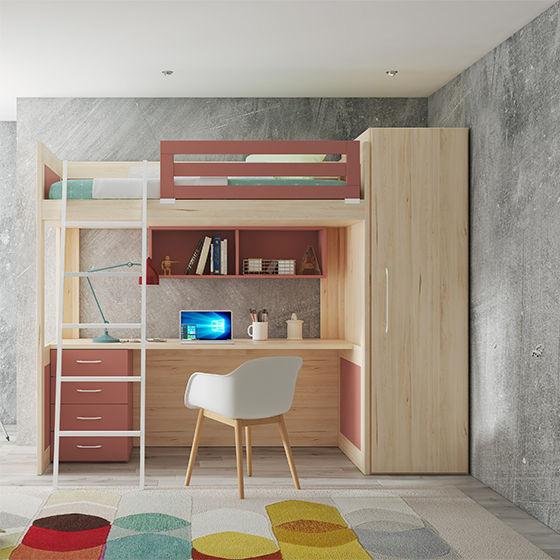 habitacion litera xl armario y mesa de estudio portada