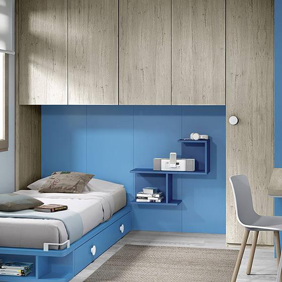 juvenil con cama amplios armarios y zona de estudio portada