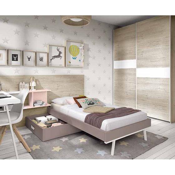 Habitacion juvenil con cama individual home interiores muebles decoracion bilbao - Cama individual juvenil ...