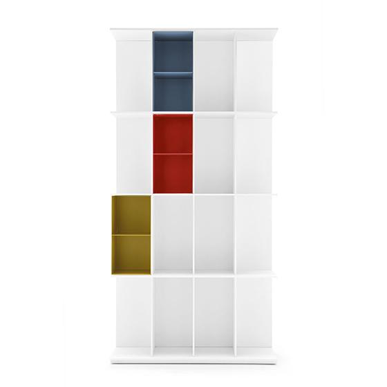 libreria division blanco grande 4 huecos