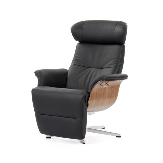 sillon full time out piel negra