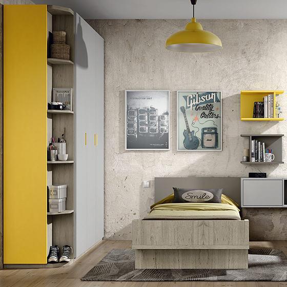 habitacion cama con cajones zona de estudio y armarios portada