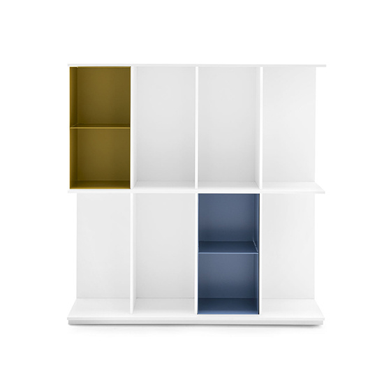 libreria division blanco 4 huecos baja