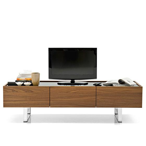mueble tv madera metal cristal horizon