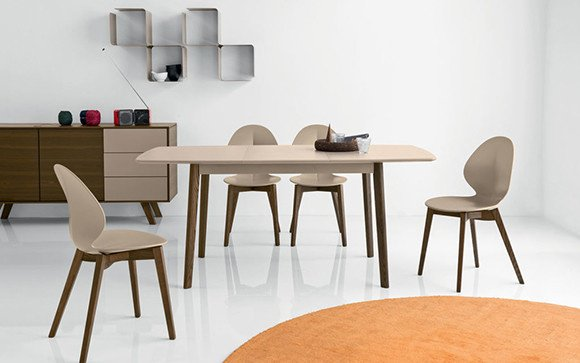 Calligaris Mobiliario CREAM TABLE MESA EXTENSIBLE CUADRADA